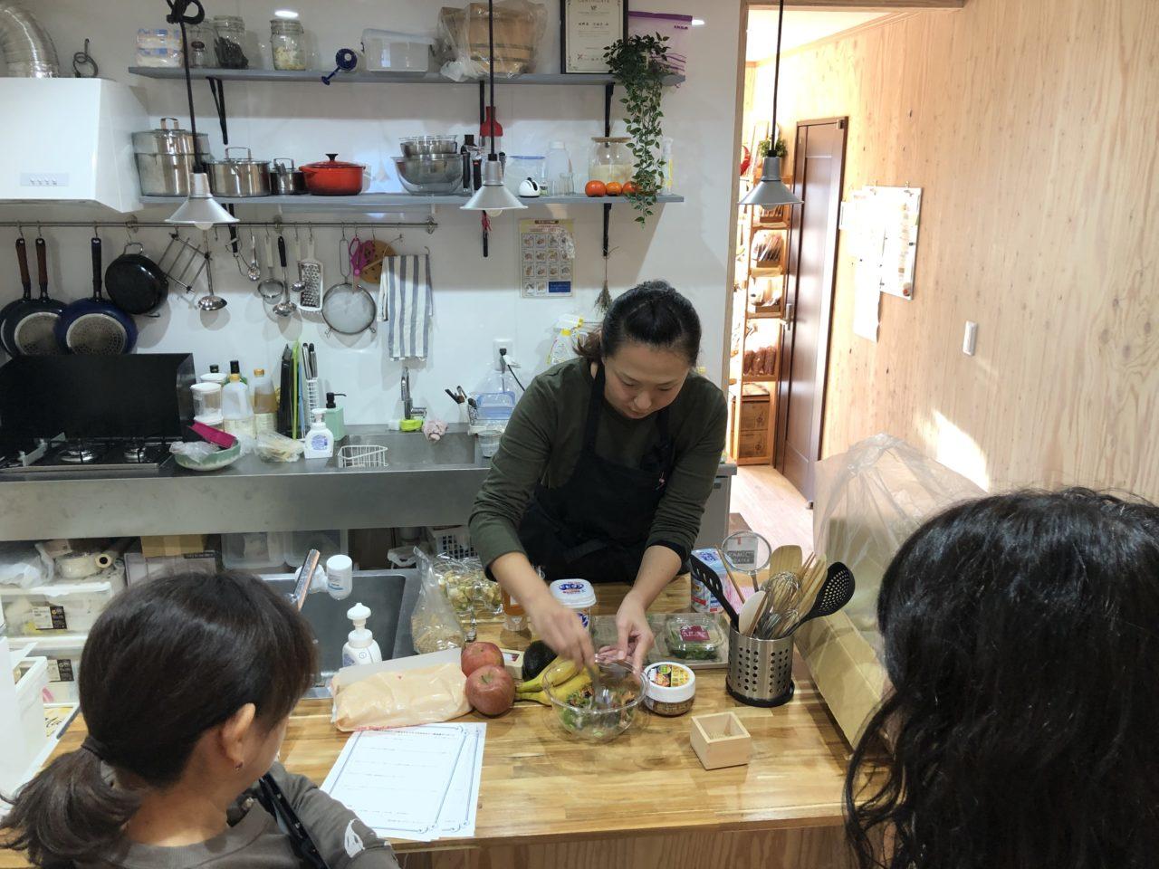 つくばのパーソナルトレーニング×料理教室のお店/マンマビレッジの腸活セミナー,腸活レシピの試食
