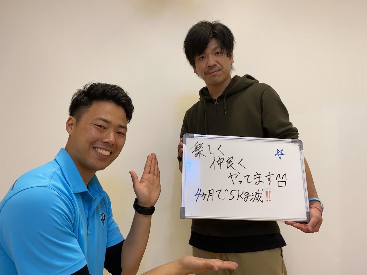 パーソナルトレーニングを受講されたお客様の声|菊池優太さん